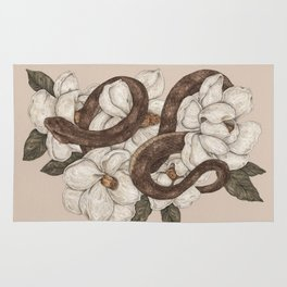 Snake and Magnolias Rug
