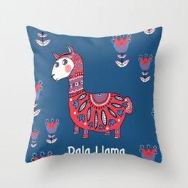 Dala Llama Throw Pillow