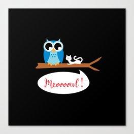 Meoooowl Canvas Print
