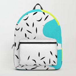 Turquoise flower . Backpack