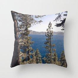 Hidden Lake Love - Nature Photography Throw Pillow