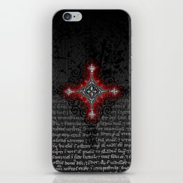 Noble House II CRUSADER RED / Grungy heraldry design iPhone Skin