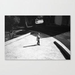walk in the village Canvas Print