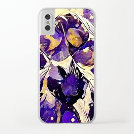 Purple Explosion Clear iPhone Case
