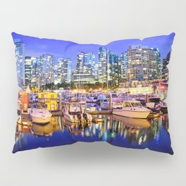 Vancouver Marina at Night Pillow Sham