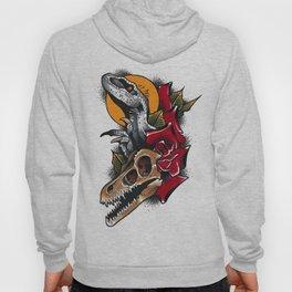 velociraptor tattoo flash Hoody