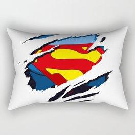 superhero torn - SuperMan Rectangular Pillow