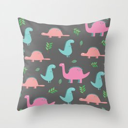 Happy Dinosaurs Throw Pillow