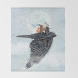 the light bird Throw Blanket