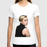 miley T-shirts featuring Miley Cyrus  by Shaina
