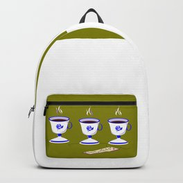 Coffee with Friends in Vintage Porcelain Cups Backpack