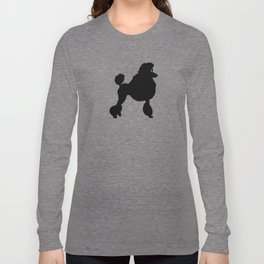 Poodle Dog Breed black Silhouette Long Sleeve T-shirt