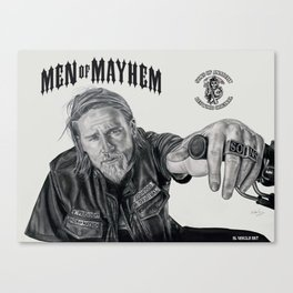 Jax  Men of Mayhem Canvas Print