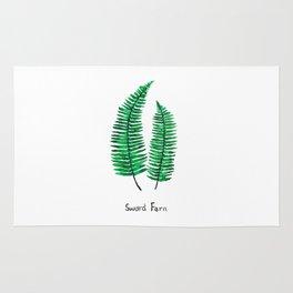 sword fern Rug