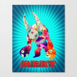 Blue Meat Canvas Print