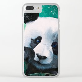 Panda - A little peckish - by LiliFlore Clear iPhone Case