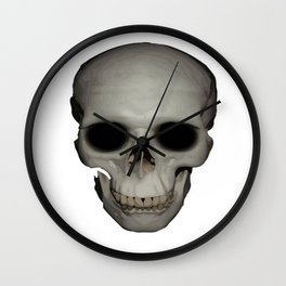 Human Skull Vector Isolated Wall Clock
