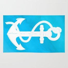 White Anchor Rug