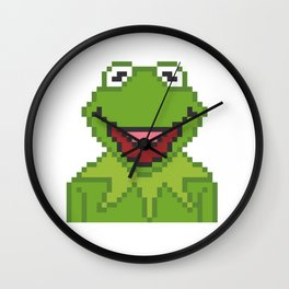 Kermit The Muppets Pixel Character Wall Clock