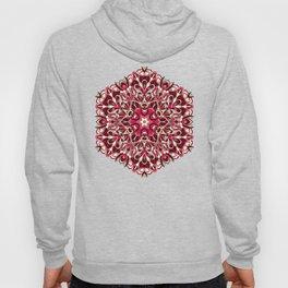 Red geometric Mandala Rich Ornament Hoody
