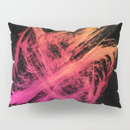 Edgy Brushstrokes Abstract Magenta Orange Gradient Pillow Sham