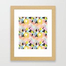 Postmodern Pyramids Framed Art Print