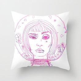 Barbarella Space Princess Throw Pillow