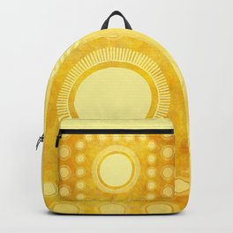 """Gold & Yellow Ethnic Sun Mandala"" Backpack"