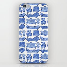 Victorian Lounge – Navy Palette iPhone Skin
