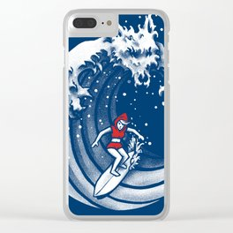 Little Red Surfing Hood Clear iPhone Case