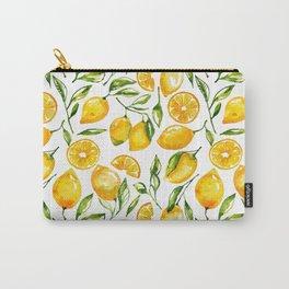 lemon watercolor print Carry-All Pouch