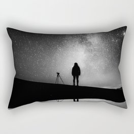 Finland and Galaxy (Black and White) Rectangular Pillow
