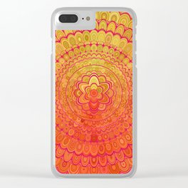 Aztec Flower Mandala Clear iPhone Case