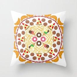 Food circle Throw Pillow