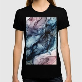Blush and Darkness Abstract Paintings T-shirt