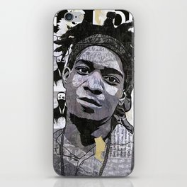 Basquiat on the wall iPhone Skin