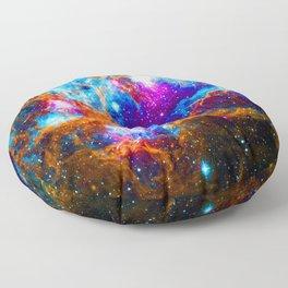 Cosmic Winter Wonderland Floor Pillow