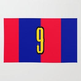 soccer team jersey number nine Rug