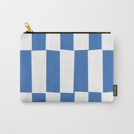 Modern royal blue and white trendy checker pattern Carry-All Pouch