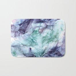 Growth- Abstract Botanical Fluid Art Painting Bath Mat