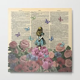 Alice In Wonderland Magical Garden Metal Print