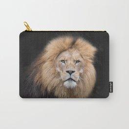 Closeup Portrait of a Male Lion Carry-All Pouch
