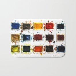 Watercolor palette Bath Mat
