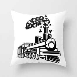 St. Patrick's Day Shamrocks Train Cute For Boy Kids Throw Pillow