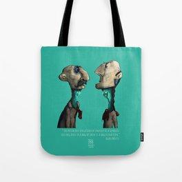 Ego in Bags of Skin - Alan Watts Tote Bag