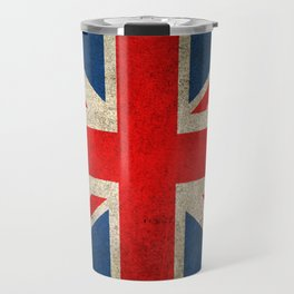 Old and Worn Distressed Vintage Union Jack Flag Travel Mug