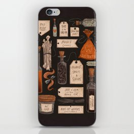 Spooky Halloween Odds and Ends iPhone Skin