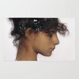 John Singer Sargent - Rosina Ferrara, Head of a Capri Girl Rug