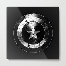 Captain Shield-USA-Star-Eroded Metal Print