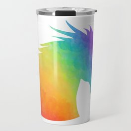 Rainbow Unicorn Silhouette Travel Mug